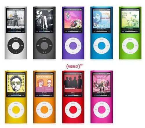 FOR IPOD nano 4 NEW 9 COLORS 8GB FM VIDEO 4TH GEN MP3 MP4MP5 PLAYER FREE SHIP A variety of language(China (Mainland))