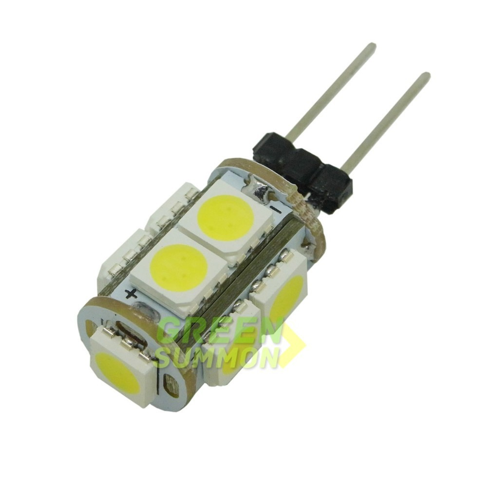 20PCS/LOT G4 DC 12V Warm / White Lights 2W 9-5050 SMD LED Ceiling Boat Home Car bulb lamps Whosales Free shipping(China (Mainland))