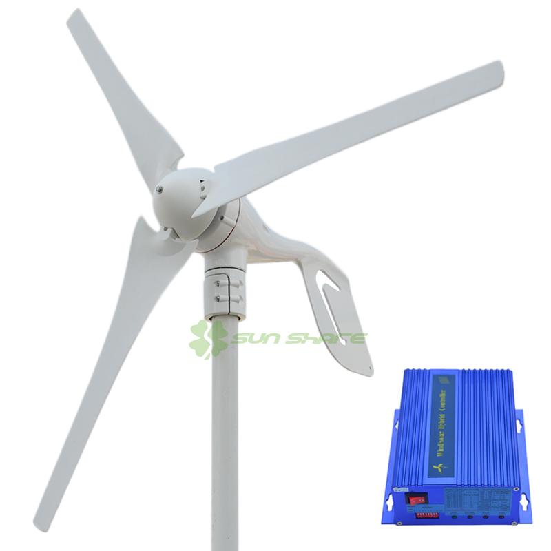 Free shipping small wind turbine max power 600w +700w wind solar hybrid controller for (400w wind generator +300w solar panel)(China (Mainland))