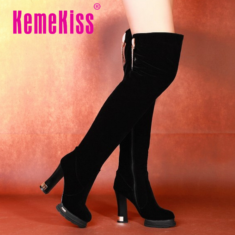women high heel over knee boots stiletto winter snow boot warm botas sexy brand masculina footwear shoes P19927 size 33-41<br><br>Aliexpress