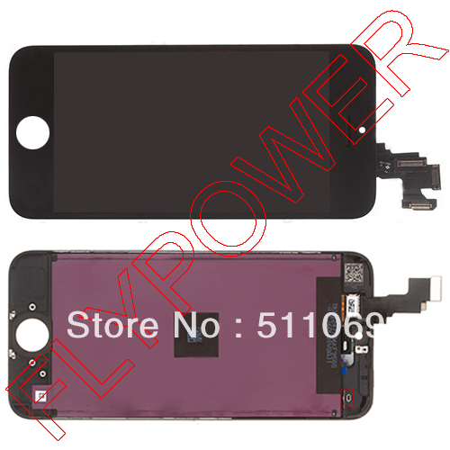 100% original LCD Screen Display with Black Touch Screen Digitizer +frame Assembly For iPhone 5C by free DHL; 5pcs/lot