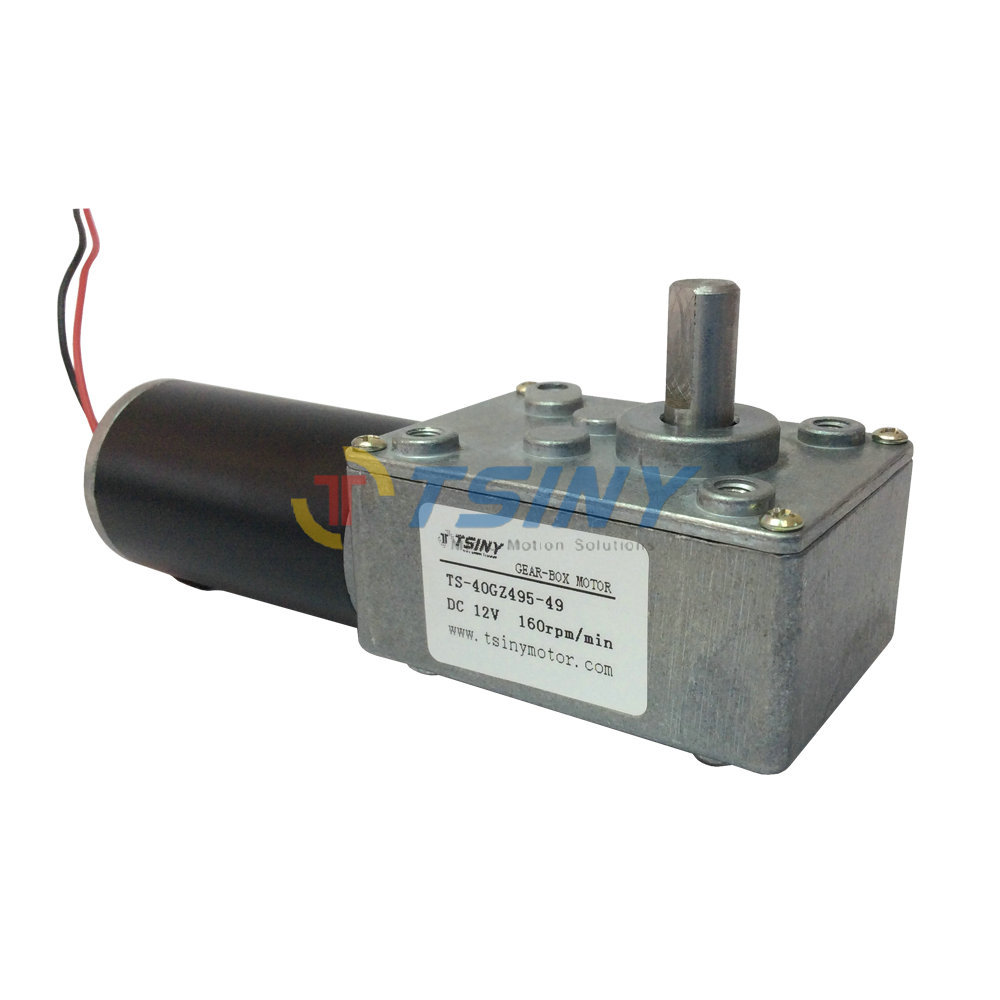 High speed dc 12v 160r dc worm gear motor electric geared Gearbox motors