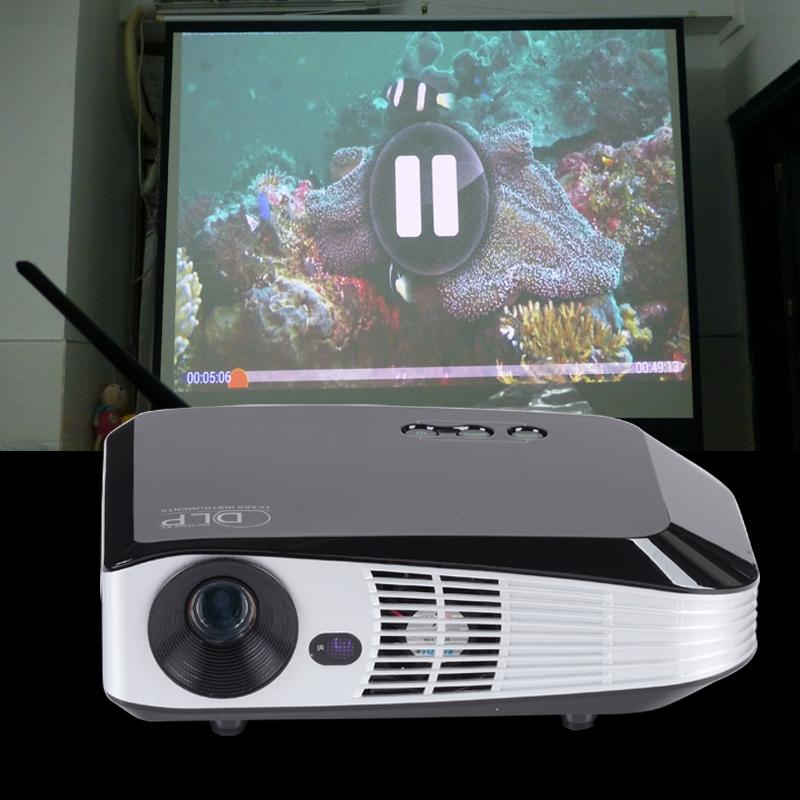 Multimedia DLP HD projector Full HD 3D Projector 1280x800 1080P Optical Keystone USb/HDMI/VGA Interface Video Games Movie Night(China (Mainland))