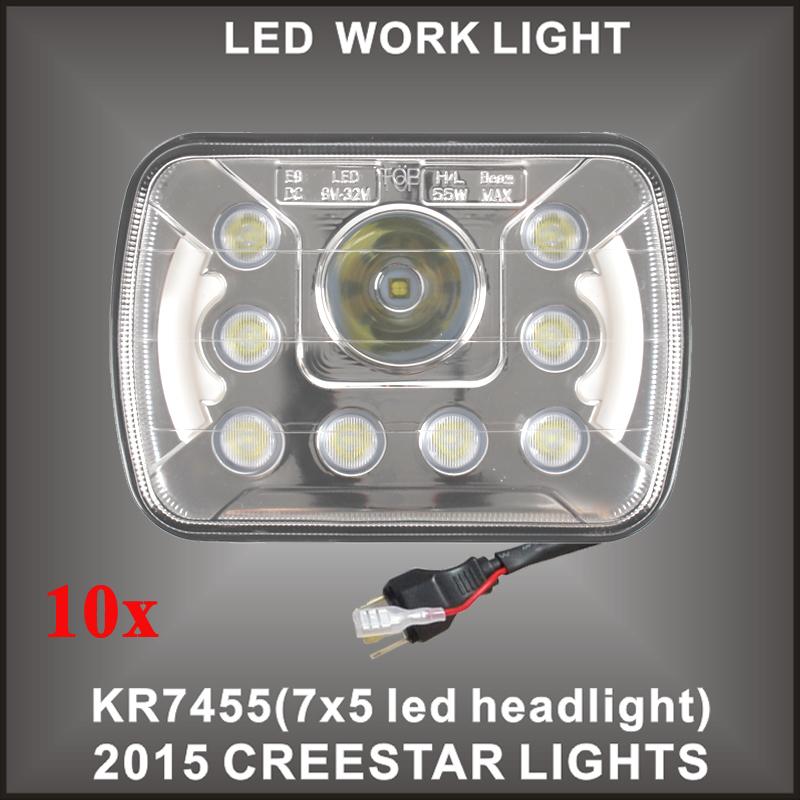 7x6 LED headlight Dot Sealed beam E9 For Truck Offroad 10PCS/LOTS Free shipping 7x5 7x6 led truck lamp(China (Mainland))