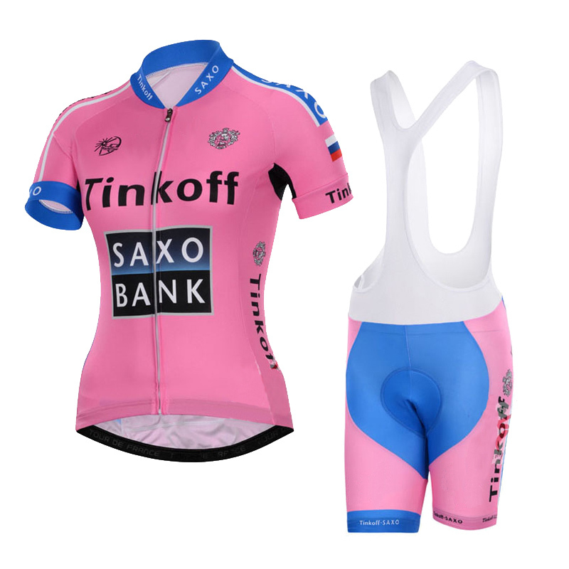 2015 NEW Autumn&summer breathable women Pink Cycling jersey&bib Short Cycling clothing woman Ropa Ciclismo bicycle bike jersey(China (Mainland))