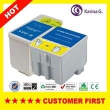 2X Inkjet Cartridge T051 T052 For EPSON Stylus Color 850NE Color 860 Color 1160
