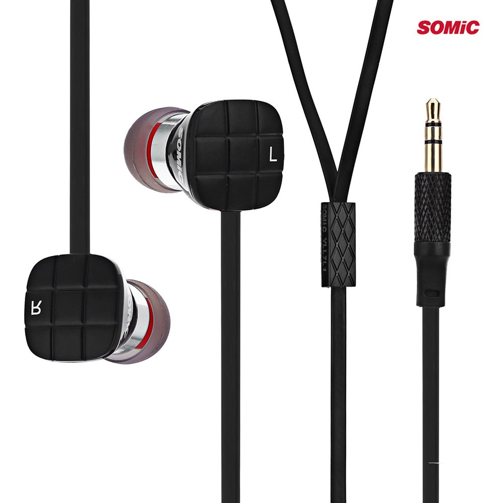 Somic L1 3.5mm Jack Bass HiFi In-ear Earphones with 9mm Moving Coil Unit for Computer/ Mobile phone/ Portable Media Player(China (Mainland))