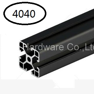 Black Aluminum Profile Aluminum Extrusion Profile 4040 40*40 commonly used in assembling device frame, table and display stand<br><br>Aliexpress