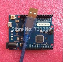 Freeshipping  Leonardo R3 development board Board + USB Cable compatible for arduino