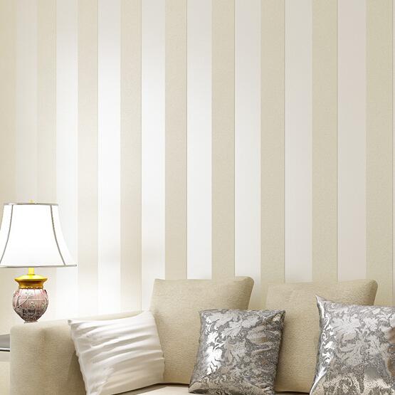 Online kaufen gro handel creme streifen tapete aus china for Exclusive wallpapers for walls