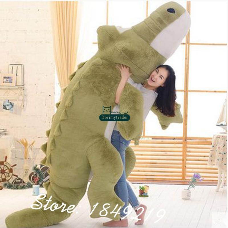 Dorimytrader Biggest 118\`\` 300cm Jumbo Crocodile Toy Plush Soft Stuffed alligator Sofa Tatami Free Shipping DY61038 (4)