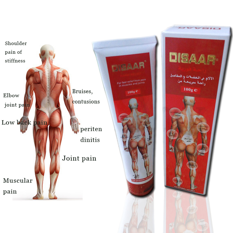 Disaar Massage Cream Rapid Muscle Relief Pain/Joints essential oil muscle pain ointment essential oil muscle pain Injured 120pcs(China (Mainland))
