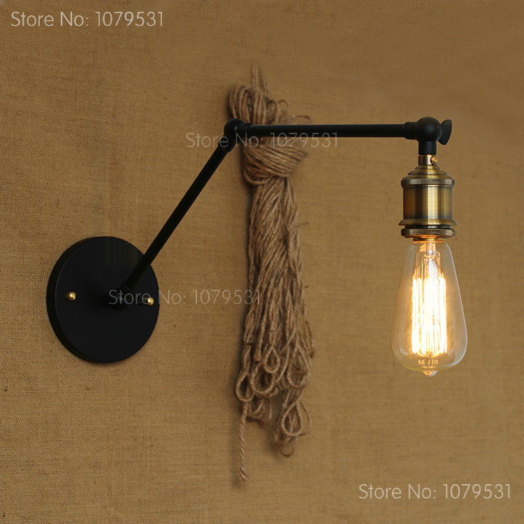 Retro Two Swing Arm Wall Lamp Baking Finish RH Restoration Sconces Light Fixture,Wall Mount Swing Arm Lamps<br><br>Aliexpress