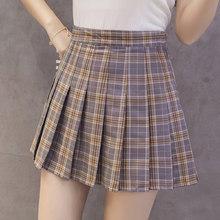 XS-3XL femmes jupe Preppy Style taille haute Chic couture jupes été étudiant plissé jupe femmes mignon doux filles danse jupe(China)