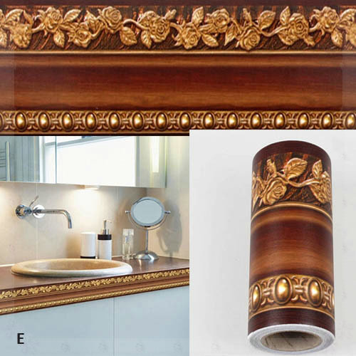10 400cm bathroom wallpaper waterproof waistline wall for Cheap wall border