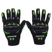 2016 1 Pair Kawasaki Full Finger Guantes Motorcycle Gloves Motorbike Luva Moto Motocicleta Motocross Guantes Gloves M L XL XXL(China (Mainland))