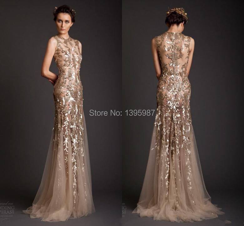 Popular Designer Gold Evening Dress-Buy Cheap Designer Gold ...