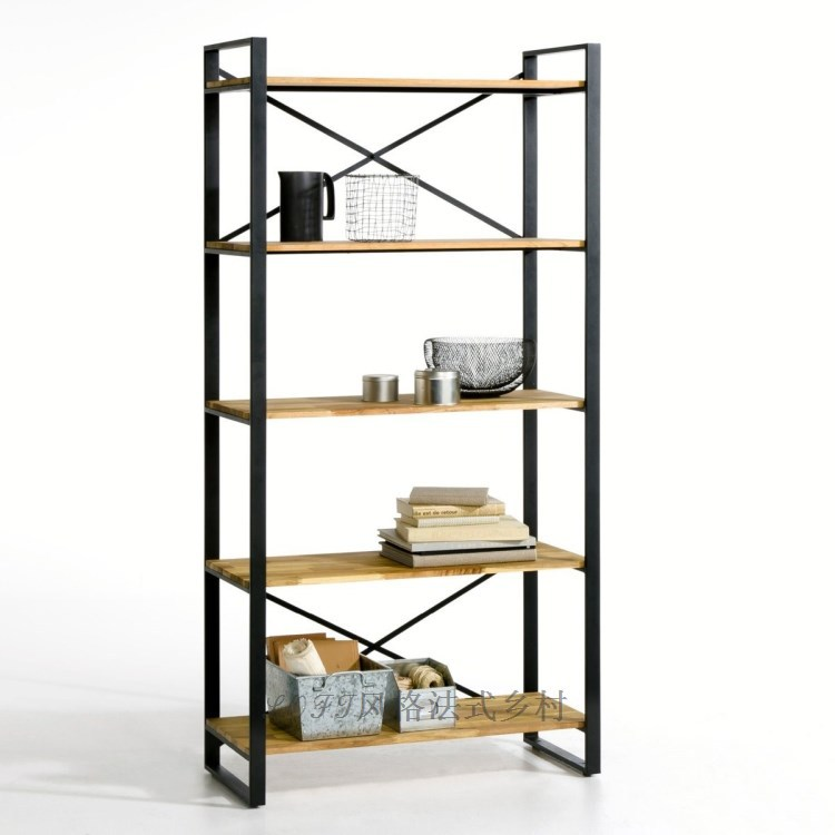 American country style retro new wrought iron shelf - Etagere murale style industriel ...