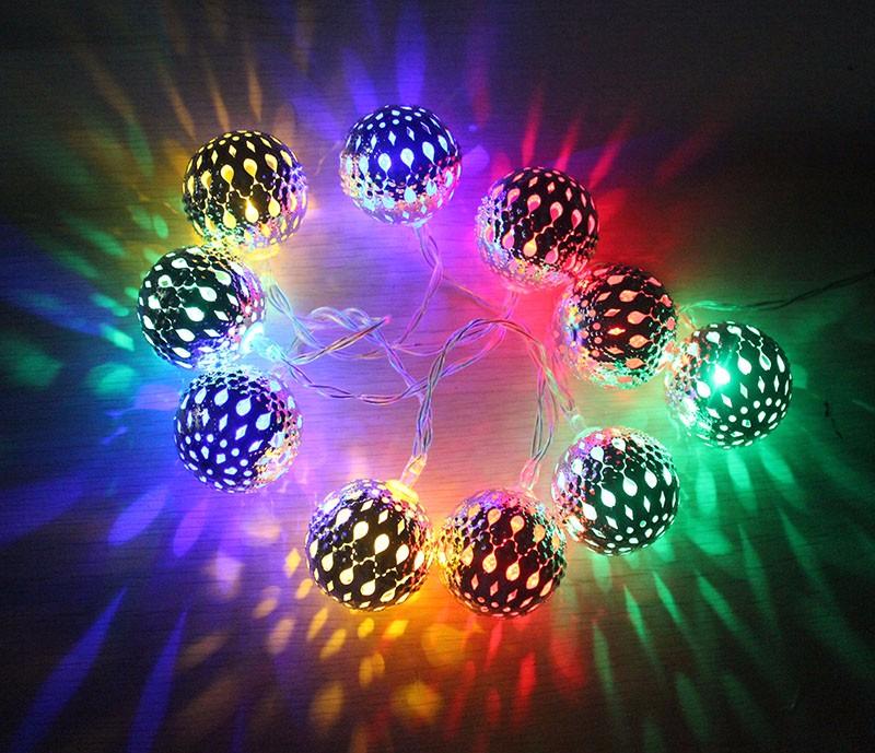 battery metal ball light string-36