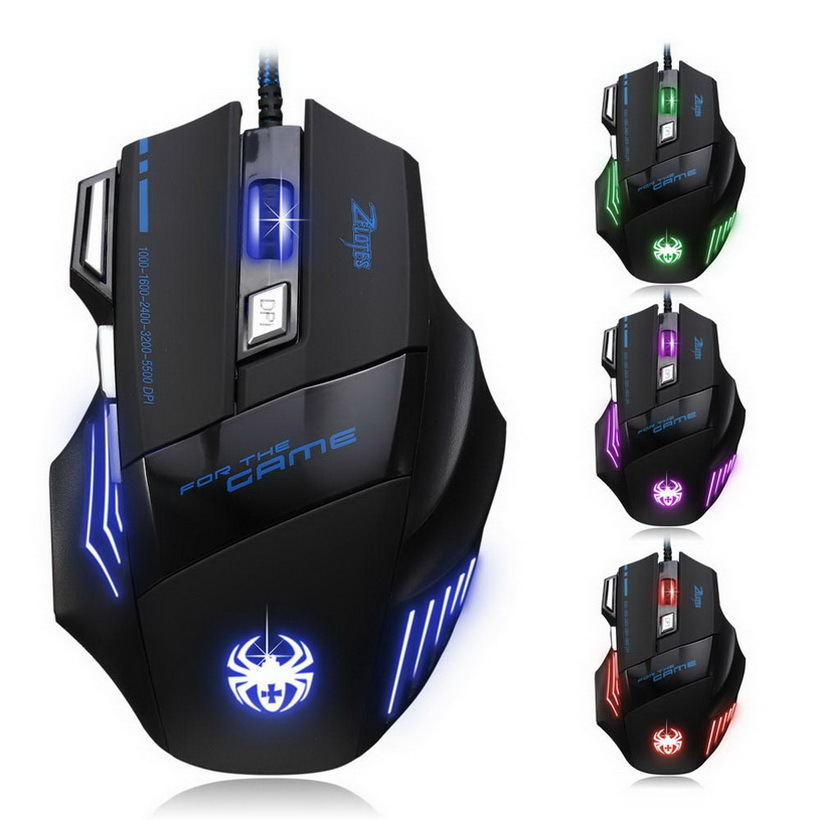 1pc New Arrival 5500 DPI 7 Button LED Optical USB Wired Mouse Gamer Mice computer mouse Gaming Mouse For Pro Gamer Newest(China (Mainland))