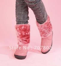 Promotions !! Hot Sale  Lady's snow boot/ Shoes/Fashion  Snow boot/ Winter Womens Boots with un-sliping heel(China (Mainland))