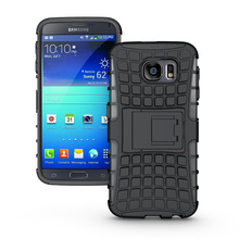 Slim Tough Armor Defender Case Hybrid TPU + PU Shockproof Shell With Stand Holder Hard Cover For Samsung Galaxy Note 2 II N7100(China (Mainland))