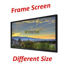 Professional Easy Installation 16:9 90inch Frame Family Theater Projector Projection Screen