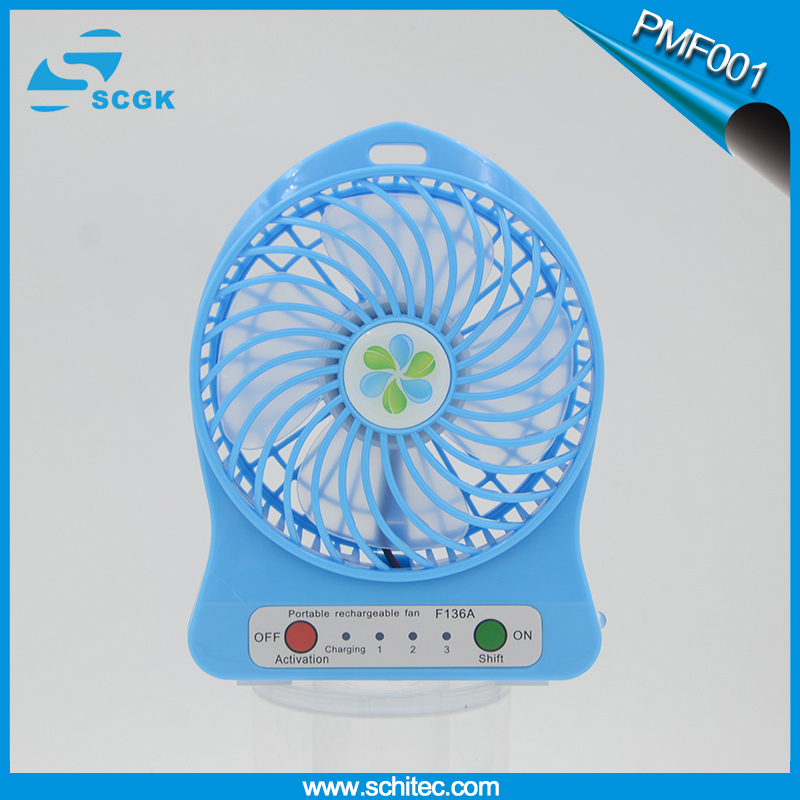 Portable Mini Battery multifunctional fan Operated Desk Cool Cooler Fan Rechargeable18650 Outdoor Camping office Cooler(China (Mainland))