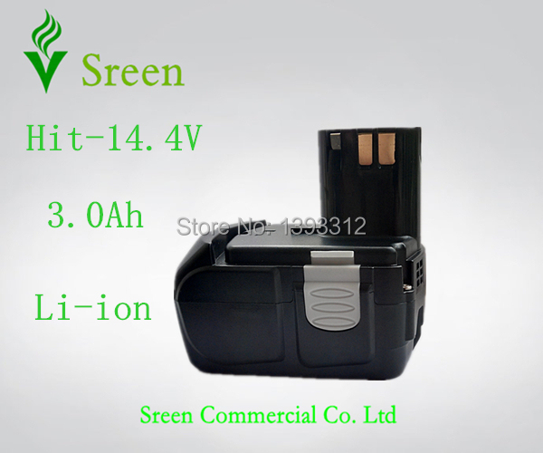 New 14.4V Lithium Ion 3000mAh Replacement Power Tool Rechargeable Battery for HITACHI EB1412S EB1414 EB1426H EB1430H EB1430R(China (Mainland))