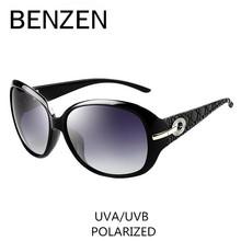 แว่นกันแดดP Olarizedผู้หญิงสุภาพสตรีที่สง่างามRhinestoneแว่นตากันแดดอาทิตย์หญิงO Culos De Sol BENZENเฉดสีด้วยกรณี6008