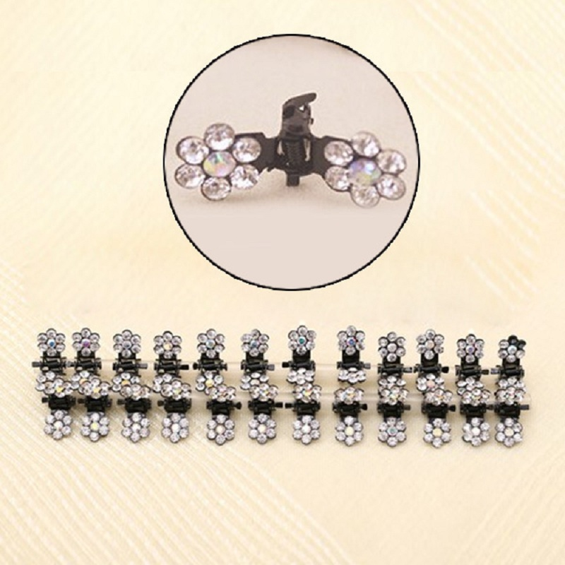 Charming Sweet Exquisite Rhinestone Plum Flower Hair caught Gripper Hair accessories Claw Clip Wedding Prom(China (Mainland))