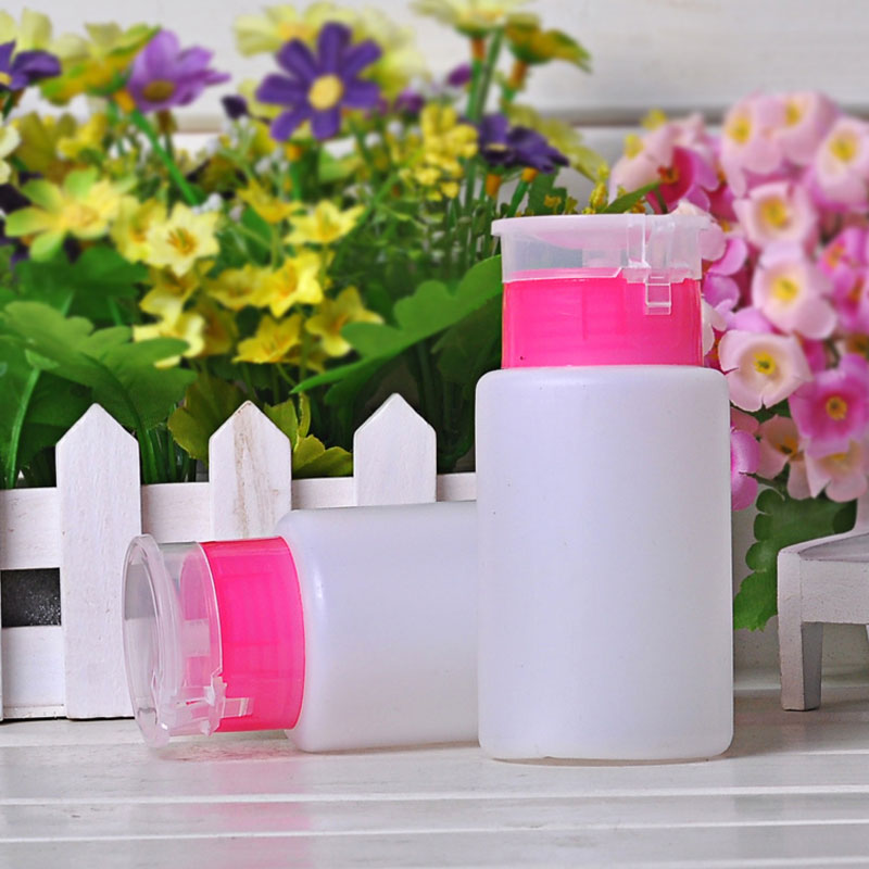 2 pcs Hot Sale Durable Quality UV Pump Cleaner Nail Art Remover Empty Bottle High Quality(China (Mainland))