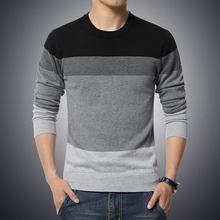 2016 НОВЫЙ Осень зима с длинным рукавом в полоску мужские пуловеры свитера мужской мужской случайные свитер трикотаж плюс размер 3XL 4XL 5XL(China (Mainland))