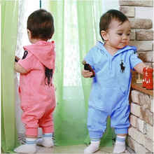 new casual brand spring and winter baby boy girl rompers long sleeve with hats 100% cotton newborn overall jumpsuit