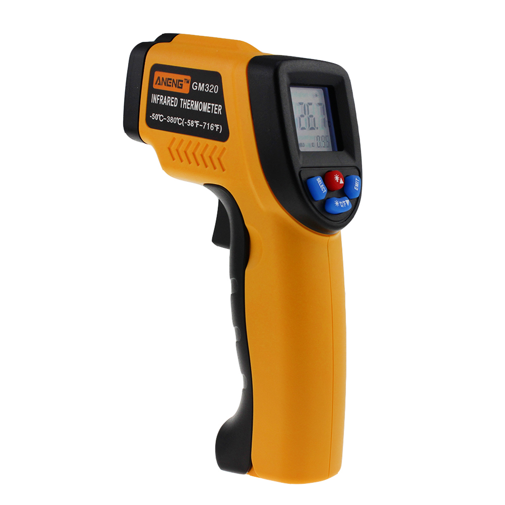 GM320 Digital Infrared Thermometer Non-Contact Infrared Thermometer Pyrometer Temperature Meter Laser Point Gun -50~380 Degree(China (Mainland))