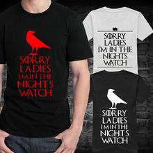 Masculino relógio de noite de verão de manga curta homens Game of Thrones T esportes menino t-shirt do Vintage