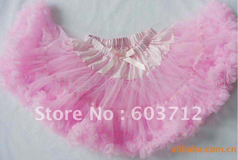 2012 Hot sale 5pcs/lots Pettiskirt Baby Girl fluffy Chiffon pettiskirts Girl's tutu Skirts mix color(China (Mainland))