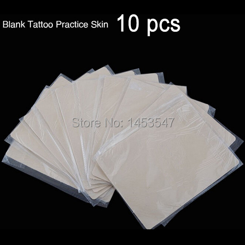 10pcs 20x 15cm Blank Tattoo Practice Fake Skin Sheet Best Quality Double Side For Beginner Starter Artists Supply Free shipping(China (Mainland))