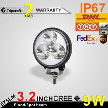 10PCS/LOT Mini 3'' Epistar UTV 4x4 Off Road 9W led work light Car Auto Motorcycle 9W Fog Lamp Worklight(China (Mainland))