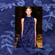 Buy Limited Full court exquisite grass dyed silk natural arranges embroidery fabric dress tissu au meter bright cloth DIY for $39.36 in AliExpress store