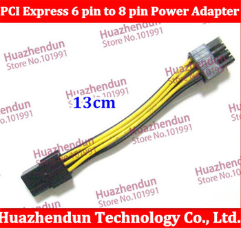 500pcs/lot ree shiping via EMS/DHL from factory 6 pin to 8 pin adapter power cable 6pin to 8pin  PCI-E graphic card