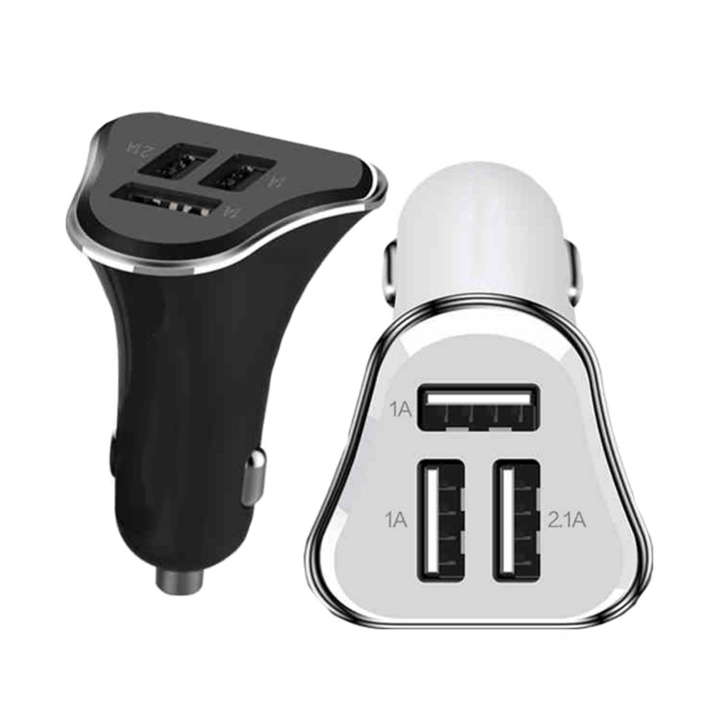 Universal Triple 3 Ports USB Car Charger 5V 2.1A+2.1A+1A For iPhone 4/5/5S/6/iPad 2 3 For Samsung Galaxy S5 S6 Edege Note 3(China (Mainland))