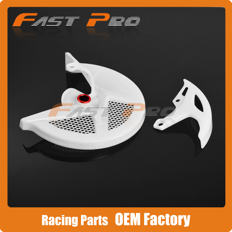 Front Rear Brake Disc Guard Protection Cover CRF CRF250R 10-12 CRF450R 09-12 Motorcycle Enduro Supermoto Dirt Bike MX - Fast Pro racing store