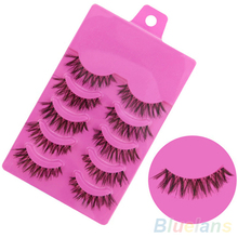 5 Pairs Makeup Handmade Messy Natural Cross False Eyelashes Perfect Eye Lashes
