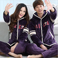 Fall And Winter 2016 Super Soft Cotton Flannel Clip Lovers Pajamas Cute Hooded Coral Fleece
