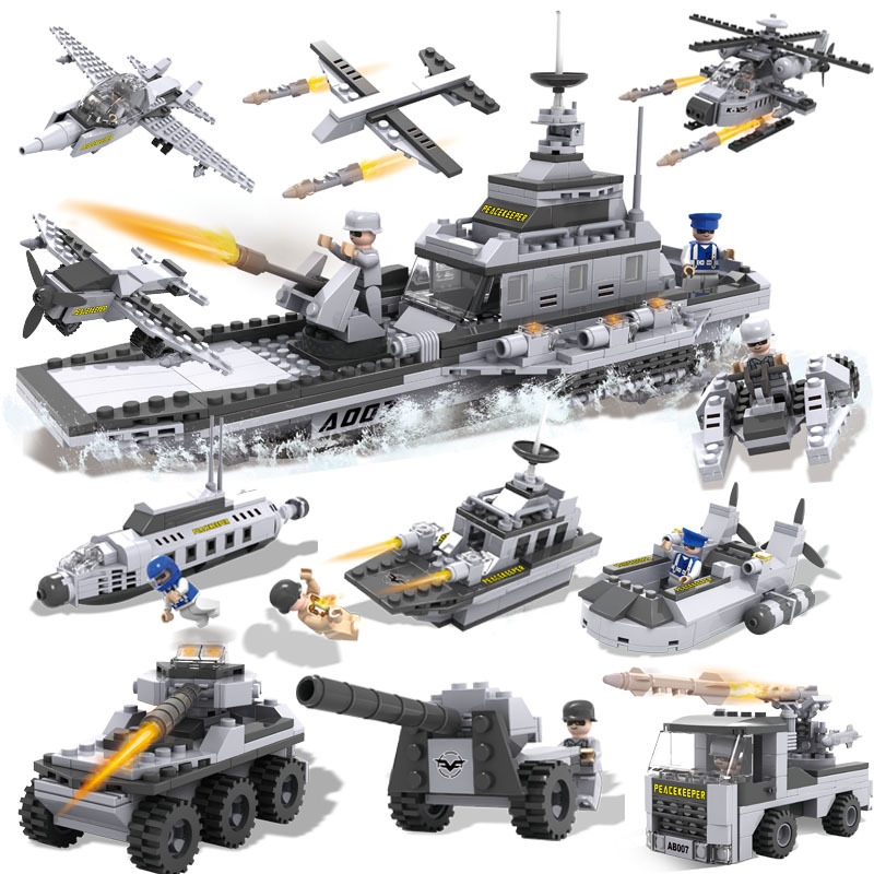 8PCS/lot Star War Airplane Vehicle Aircraft Carrier Model Building Blocks Toys DIY Kids Nice Gift Toys Safety ABS Building Kits(China (Mainland))
