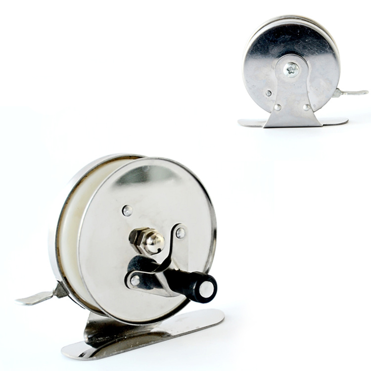 1pc ice fishing reel Stainless steel free shipping to 30 countries(China (Mainland))