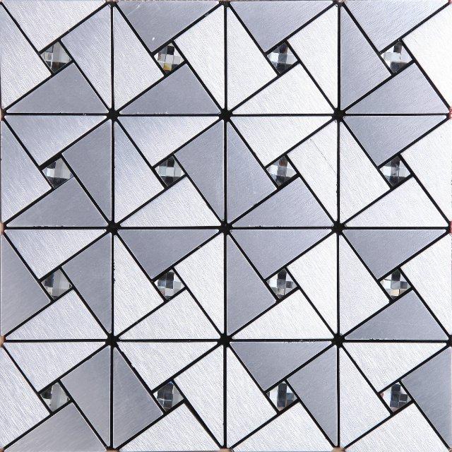 Keuken Aluminium Plaat : 2016 Aluminium plaat moza?ektegels zelfklevende wandtegel driehoek