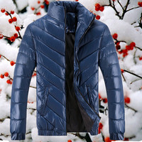 Autumn and winter jacket men casual and fashion brand skinny cotton-padded jackets,free shipping