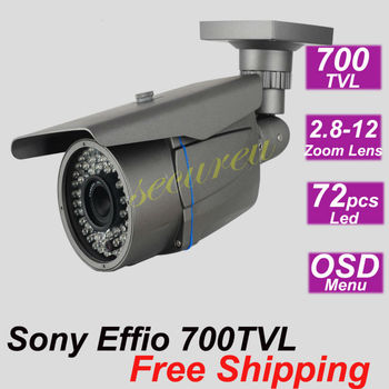 Sony effio-e 700TVL ir vari focal zoom lens CCTV outdoor waterproof security surveillance video camera cctv system installation